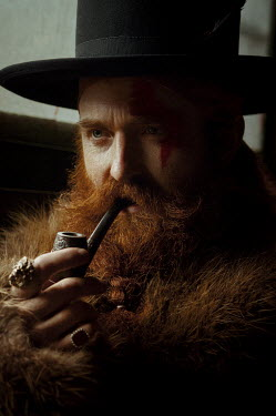Natasha Yankelevich MAN IN HAT WITH LONG RED BEARD AND PIPE