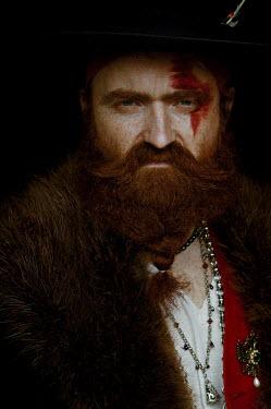 Natasha Yankelevich MAN IN HAT WITH LONG RED BEARD AND STREAK