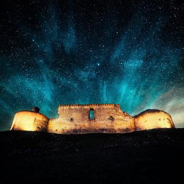 David Keochkerian RUINED CASTLE AT NIGHT WITH STARRY SKY