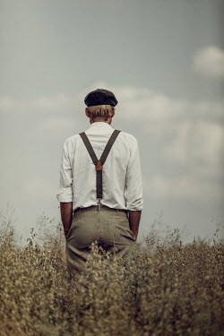 Magdalena Russocka retro man standing in field
