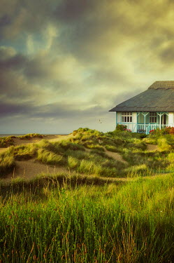 Nic Skerten THATCHED HOUSE ON DUNES BY SEA