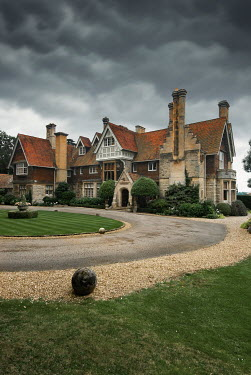 Michael Trevillion LARGE HISTORICAL HOUSE WITH CIRCULAR DRIVEWAY