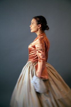 Miguel Sobreira BRUNETTE HISTORICAL WOMAN STANDING IN PROFILE