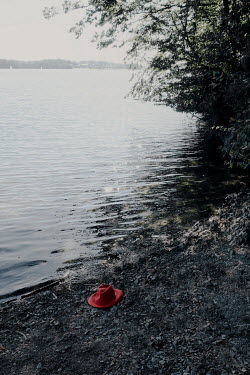 Maria Petkova RED HAT LYING BY LAKE