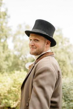 Shelley Richmond REGENCY MAN WITH TOP HAT IN GARDEN