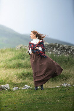Marie Carr HISTORICAL WOMAN IN WINDY COUNTRYSIDE