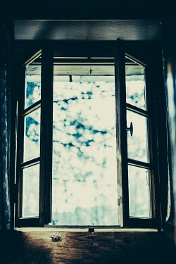 Magdalena Russocka window of old cottage house from inside