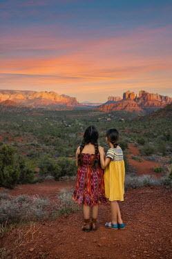 Lilia Alvarado Girls on hill in desert