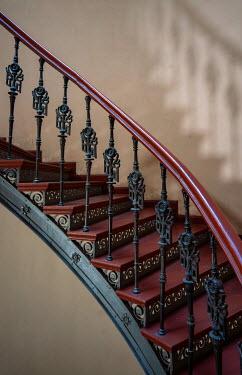 Jaroslaw Blaminsky Wrought iron railing on staircase