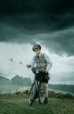 Stephen Mulcahey Boy on bicycle in field