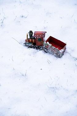 Maria Petkova Toy train in snow