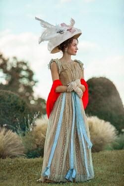 Ildiko Neer Historical woman standing in garden