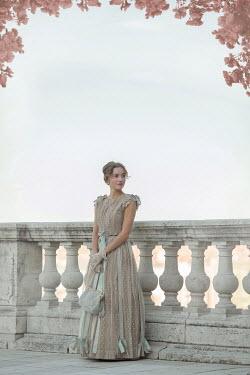 Ildiko Neer Historical woman standing on terrace