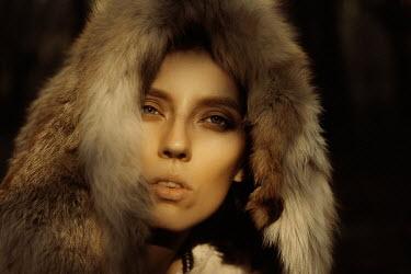 Ekaterina Pavlova Young woman with fur hood