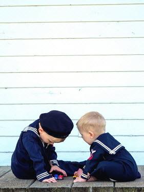 Elisabeth Ansley Boys playing on deck