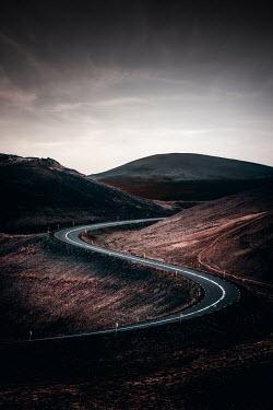 Evelina Kremsdorf Highway between hills in Iceland