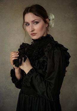 Jaroslaw Blaminsky Woman in black dress