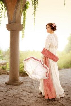 ILINA SIMEONOVA Regency woman with parasol in garden