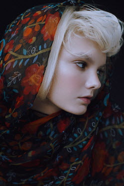 Irina Orwald Young woman in floral pattern scarf