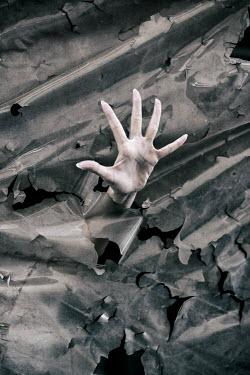 Mohamad Itani FEMALE HAND REACHING THROUGH TORN PLASTIC
