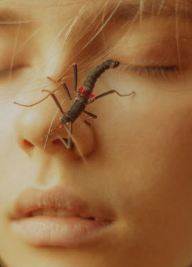 Daria Amaranth INSECT CRAWLING ON YOUNG FEMALE FACE