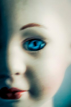 Sally Mundy CLOSE UP OF DOLLS FACE WITH BLUE EYES