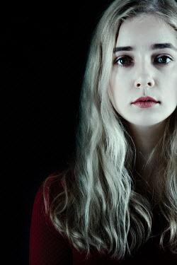 Magdalena Russocka close up of blonde woman staring inside