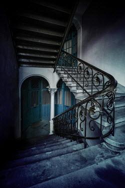 Jaroslaw Blaminsky OLD STAIRCASE WITH APARTMENT DOORWAYS