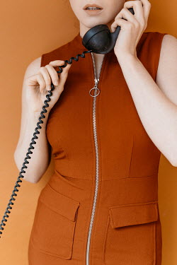 Shelley Richmond 1960S WOMAN IN DRESS HOLDING TELEPHONE