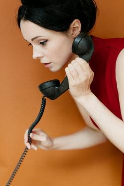 Shelley Richmond 1960S WOMAN LISTENING TO TELEPHONE