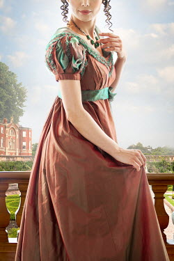Lee Avison anonymous regency woman in the grounds of a mansion