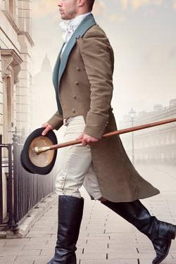 Lee Avison regency gentleman walking in the city