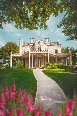 Evelina Kremsdorf HISTORICAL BUILDING WITH GARDEN PATH IN SUMMER