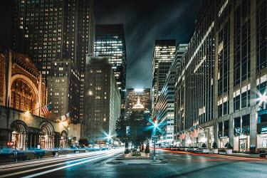 Evelina Kremsdorf EMPTY NEW YORK STREET AT NIGHT