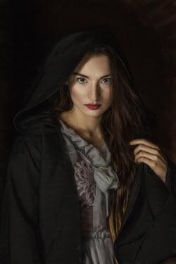 Beata Banach HISTORICAL WOMAN IN CAPE WITH HOOD