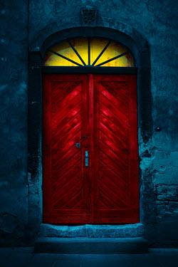 Magdalena Russocka red door with light at dusk