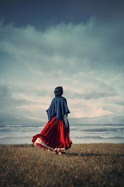 Magdalena Russocka historical woman looking at sea