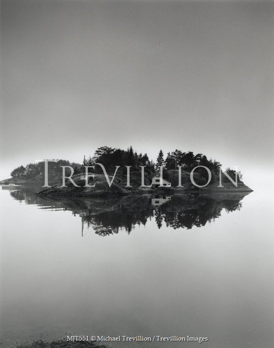 Michael Trevillion ISLE WITH HOUSE ON LAKE Lakes/Rivers