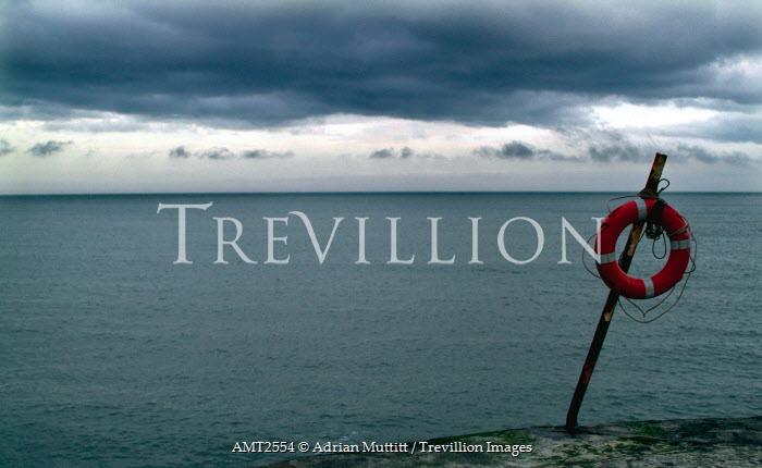 Adrian Muttitt LIFE RING BY SEA Seascapes/Beaches