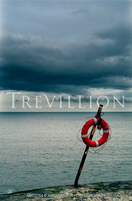 Adrian Muttitt LIFE GUARD RING ON BEACH Miscellaneous Objects
