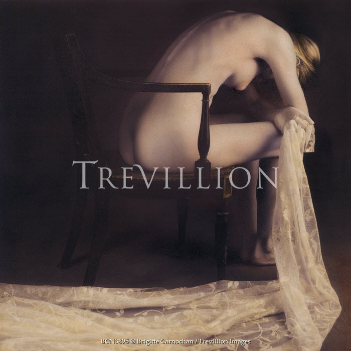 Brigitte Carnochan NAKED WOMAN SITTING ON CHAIR Women