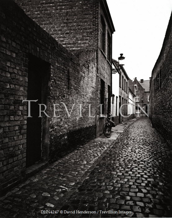 David Henderson COBBLE STREET WITH SMALL HOUSES Streets/Alleys
