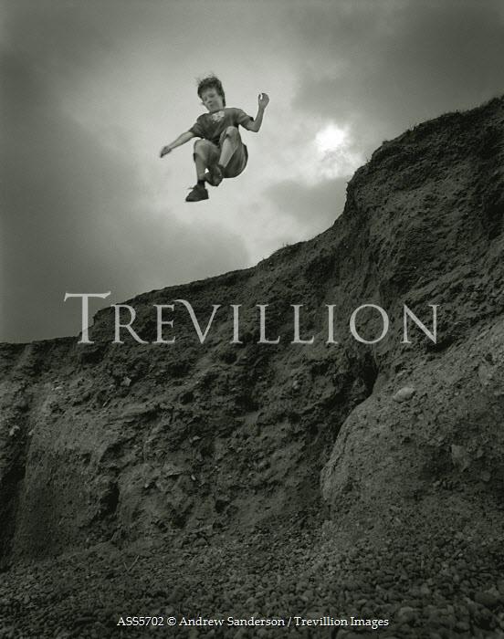 Andrew Sanderson BOY JUMPING OFF CLIFF Children