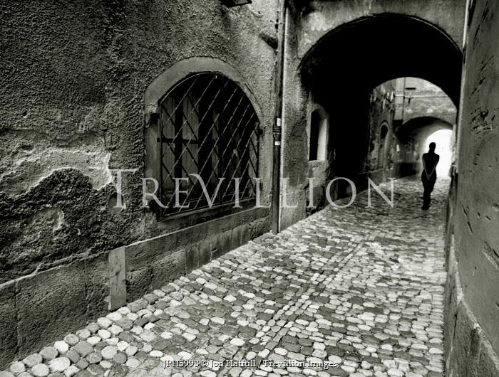 Jon Hatfull FIGURE OF WOMAN IN ALLEYWAY Streets/Alleys