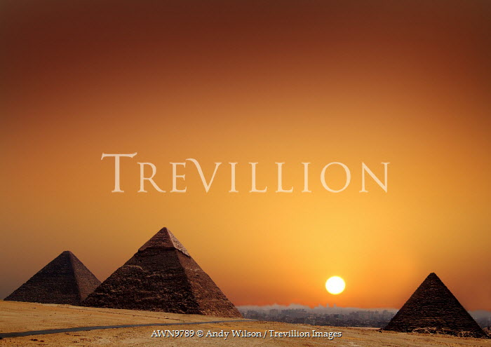 Andy Wilson PYRAMIDS AT SUNSET Specific Cities/Towns