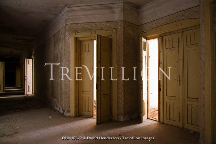 David Henderson OLD CORRIDOR WITH LARGE DOORS Interiors/Rooms