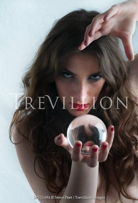 Steve Peet WOMAN WITH CRYSTAL BALL Women