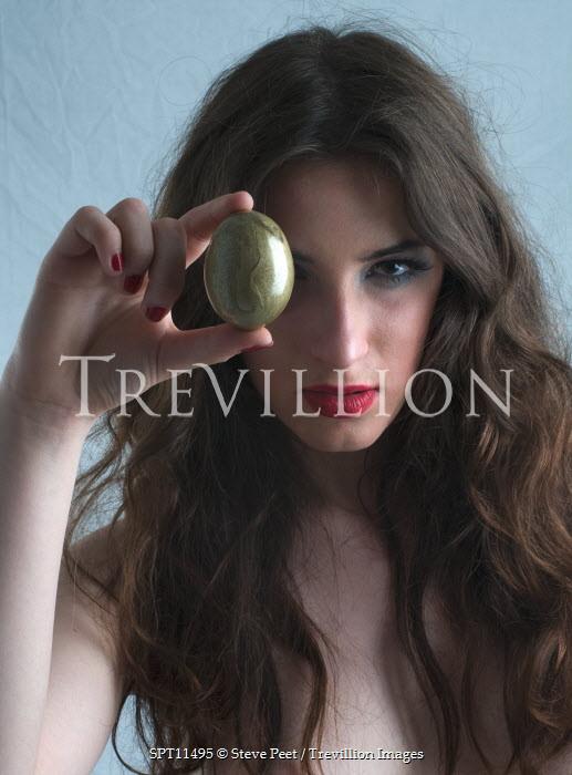 Steve Peet WOMAN HOLDING GOLDEN EGG Women