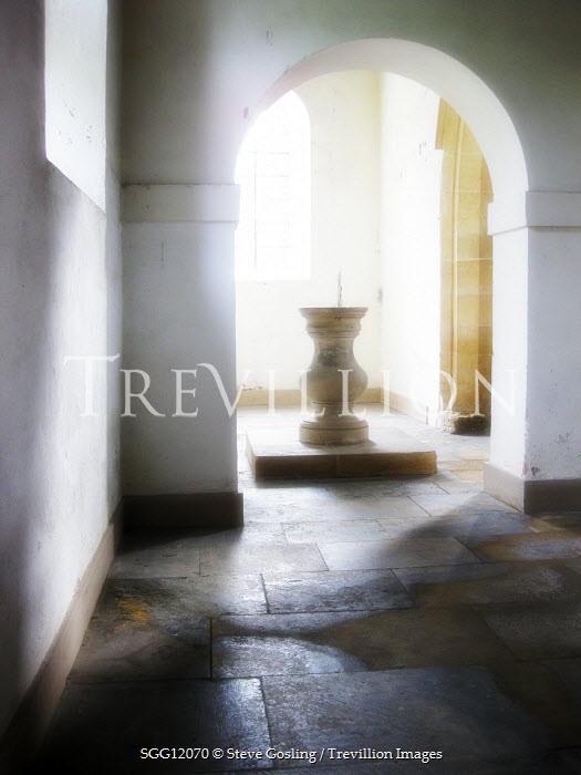Steve Gosling INSIDE OLD STONE CHURCH Religious Buildings