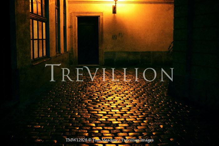 Tom Meadow COBBLED STREET WITH DOOR Streets/Alleys